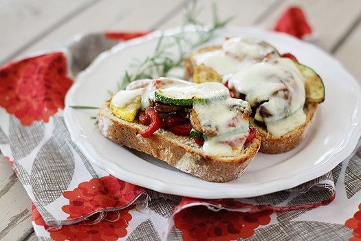 Open Face Roasted Vegetable Sandwiches via @goodlifeeats