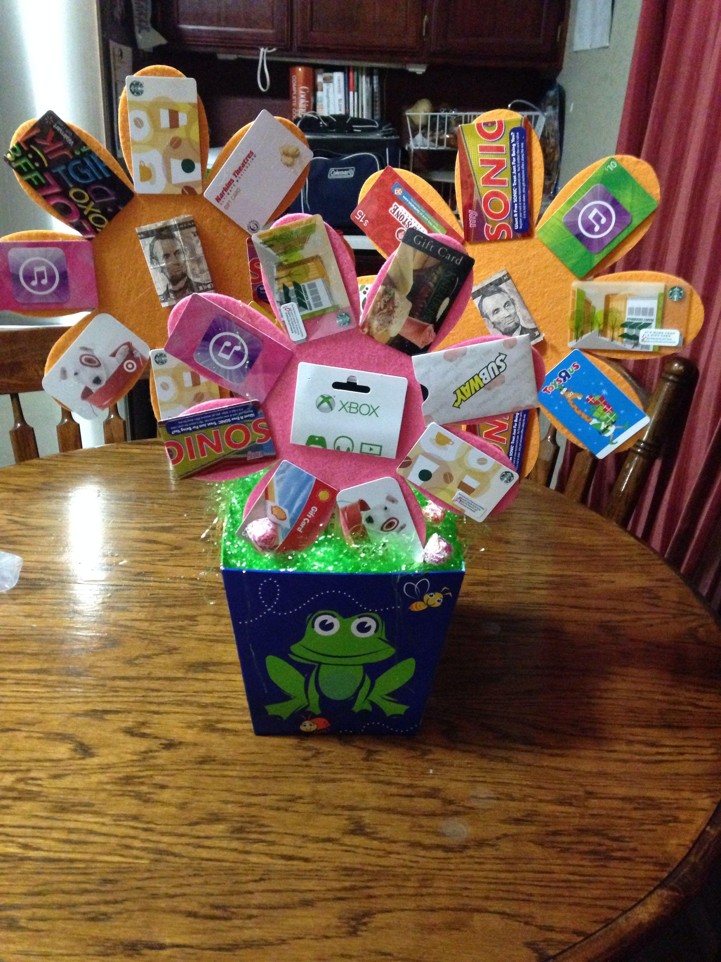 Gift card basket gift card bouquet gift card tree gift