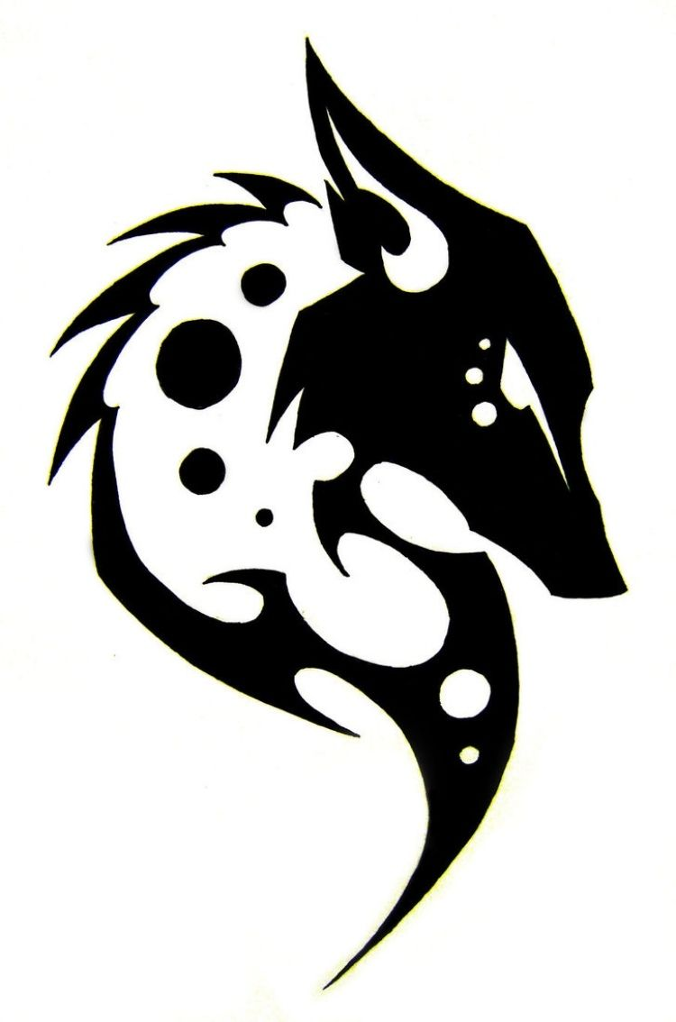 Tattoo motiv wolf tattoovorlage wolfskopf - Wolf Tattoo Vorlage Mit Tribal Look