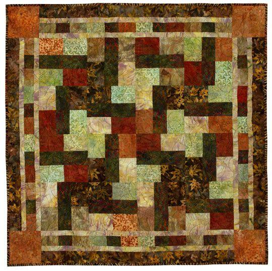 Autumn Batik Table Topper free pattern
