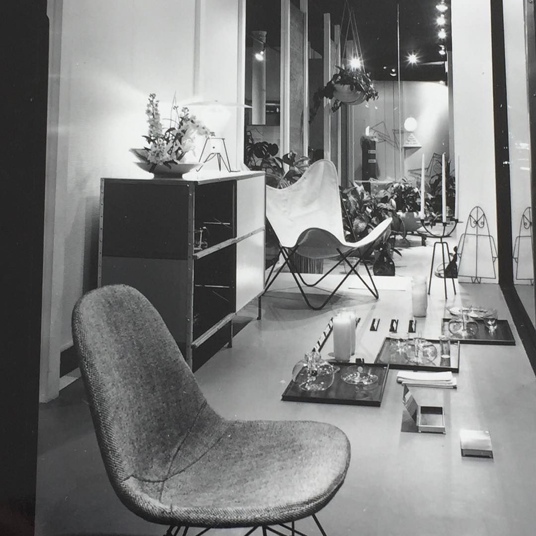 An Original Vintage Photo Of A 1955 Window Display At Fraseru0027s In Berkeley  California.... #eames #eameschair #mcmfurniture #hermanmiller #frasers #mcm