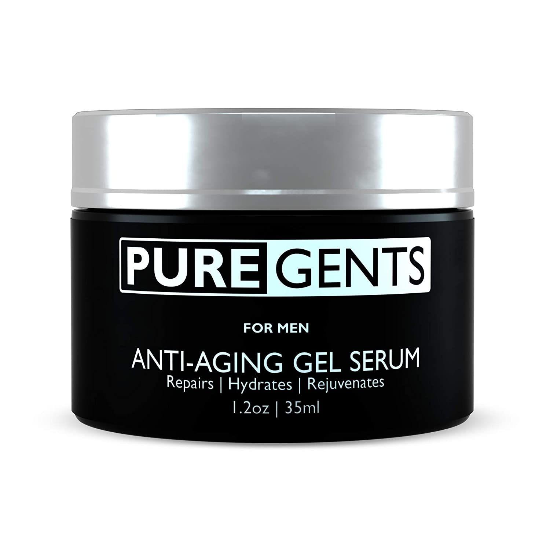Puregents Facial Moisturizer For Men 1 2 Oz Anti Aging Face Gel Serum Aqueous Extract Of Green In 2020 Facial Moisturizers Anti Aging Face Anti Aging Night Cream