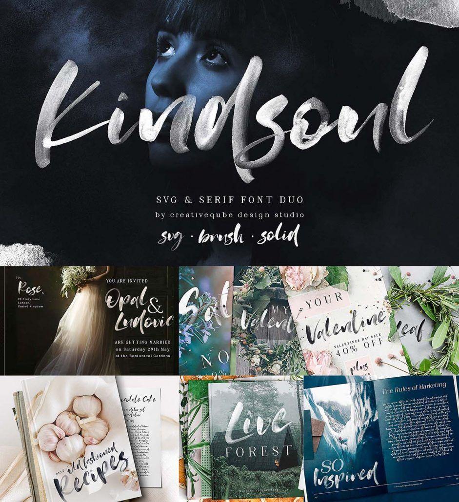 Kindsoul Font Free Fonts Download Fonts Brush Font