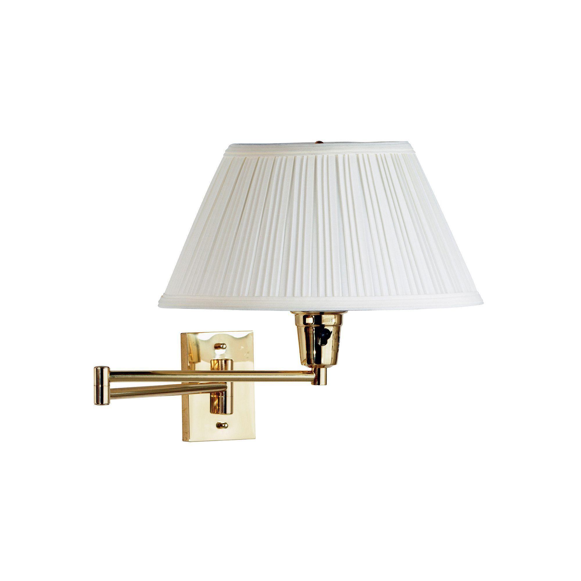 element swingarm wall lamp gold
