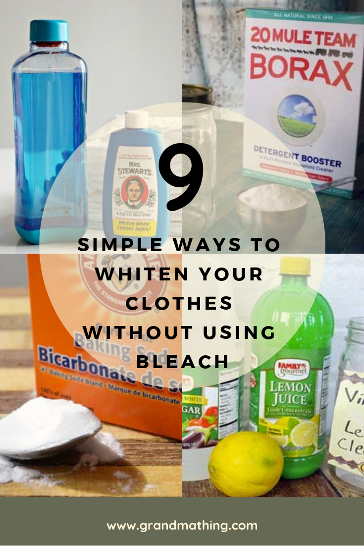 9 Simple Ways To Whiten Your Clothes Without Using Bleach Baking Soda Cleaning How To Whiten Clothes Cleaning White Clothes