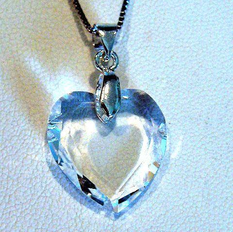 Genuine swarovski crystal heart pendant necklace swarovski genuine swarovski crystal heart pendant necklace aloadofball Images