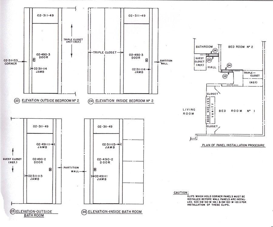 pocket closet plans (sliding door that is between the wall ...