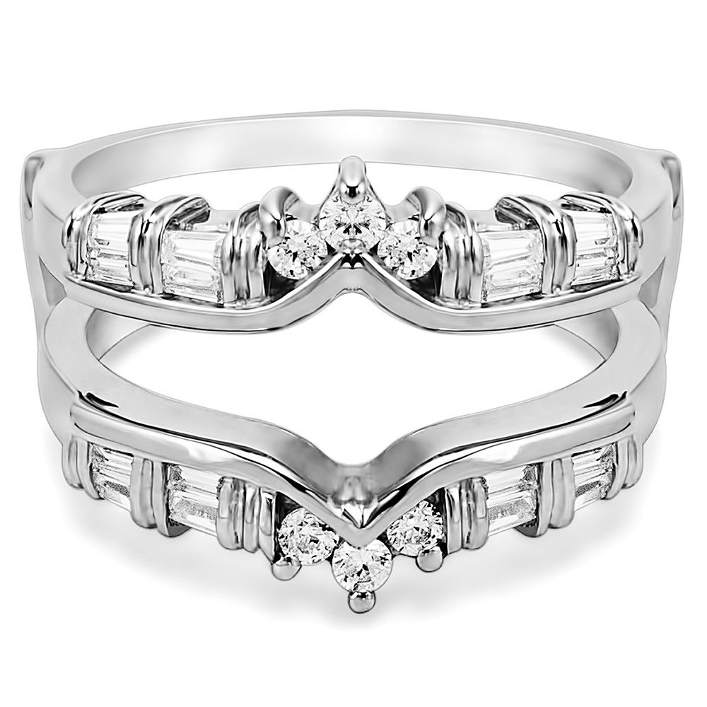 wedding ring guard Solitaire Wedding Ring Guard Enhancer for Tiffany Solitaires by TwoBirch