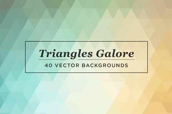 https://creativemarket.com?u=becdean3 Triangles Galore by spacelab on Creative Market