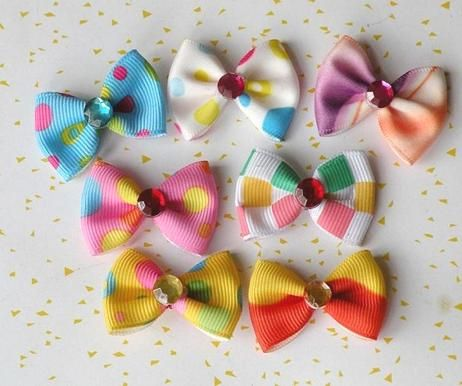 Pets Ribbon Bows, how cute and lovely they are!