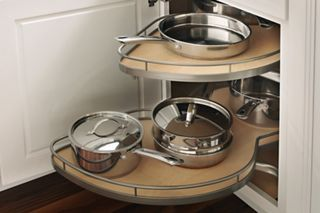 Base Blind Corner with Pull-Out Storage - Yorktowne Cabinets