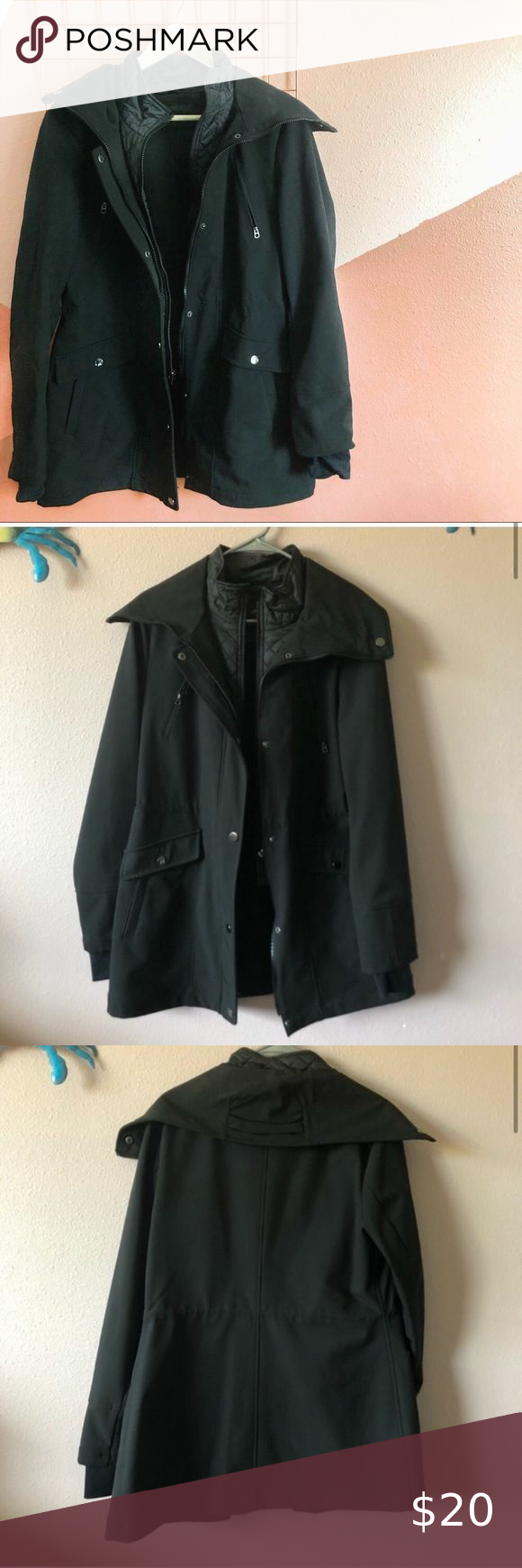 Liz Claiborne Zip Up Black Long Sleeve Jacket Has Inner Lining Vest That Goes Down To Waist J Black Long Sleeve Jacket Long Sleeves Jacket Black Long Sleeve [ 1740 x 580 Pixel ]