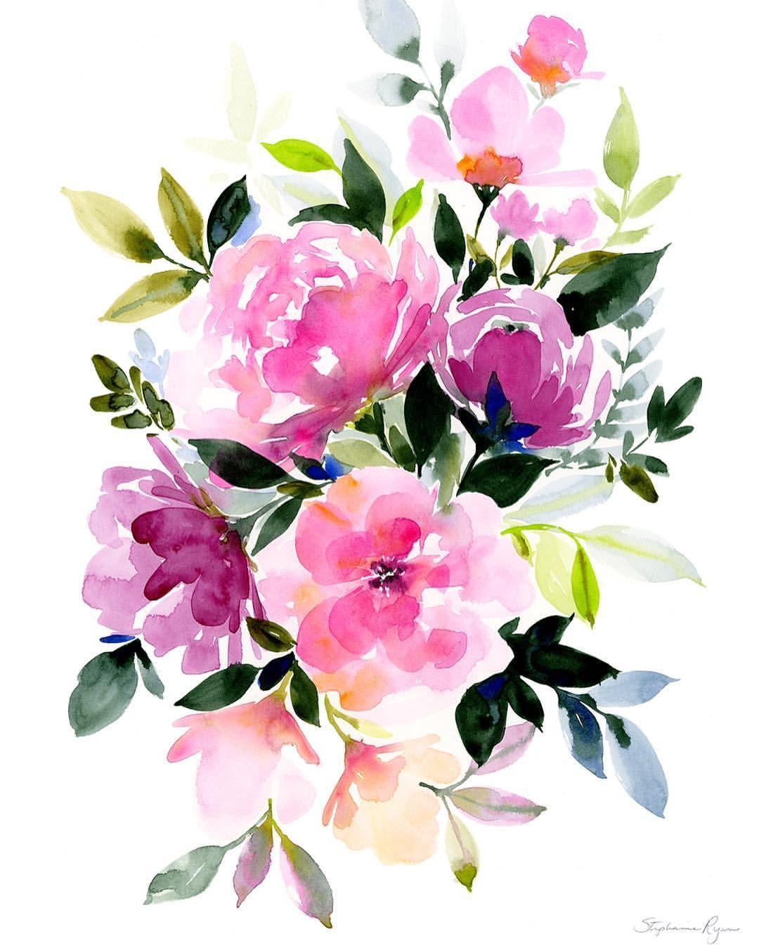 Иллюстрации открытки цветы