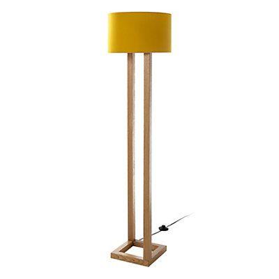 lampadaire jaune moutarde