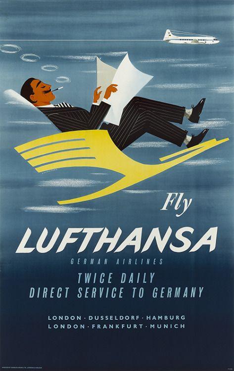 Lufthansa, 1950s | Matthew's Island of Misfit Toys