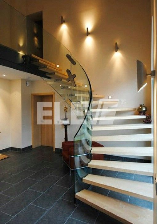 Escalera De Cristal Eleve Escaleras Pinterest Escaleras En - Escaleras-de-cristal-y-madera