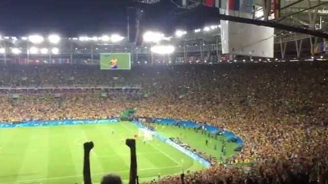 The moment when Brazil win Olympic Gold...