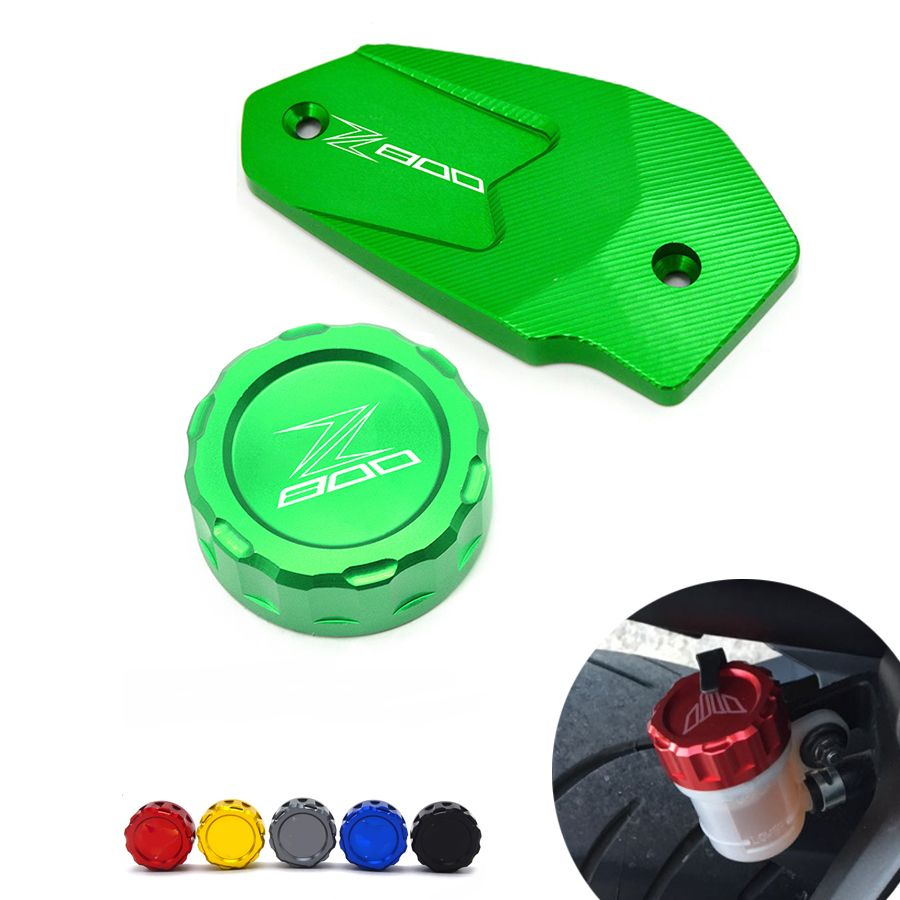 Front Cover And Rear Brake Fluid Reservoir Cover Cap Fluid Reservoir Cap For Kawasaki Z800 13 16 Er6n Er6f Versys Motorcycle Accessories Oil Filter Motorcycle