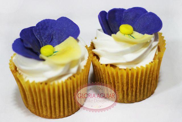 Cupcakes Flor Rapunzel