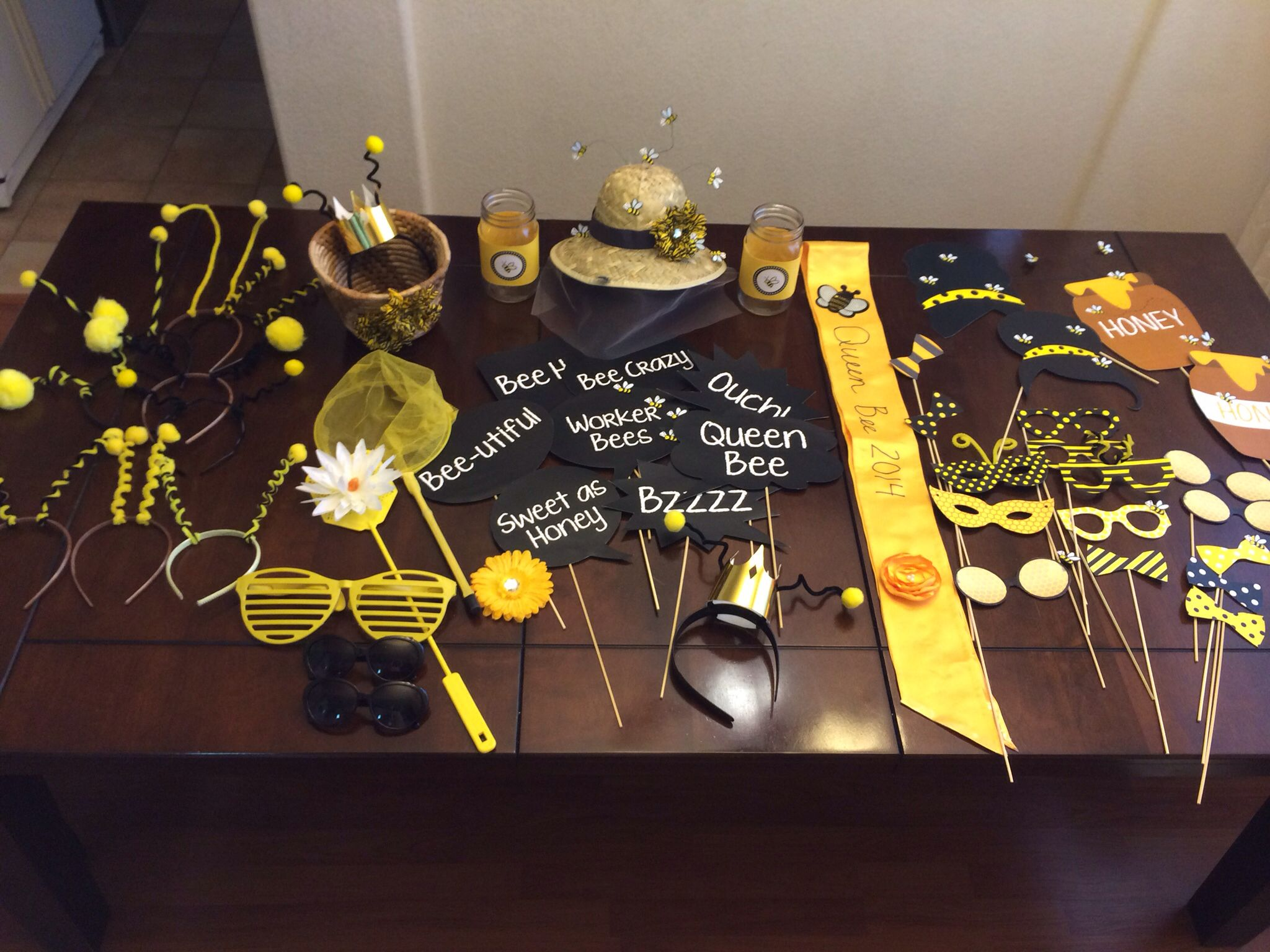 Photo Booth Props For HBC Bee Themed Event