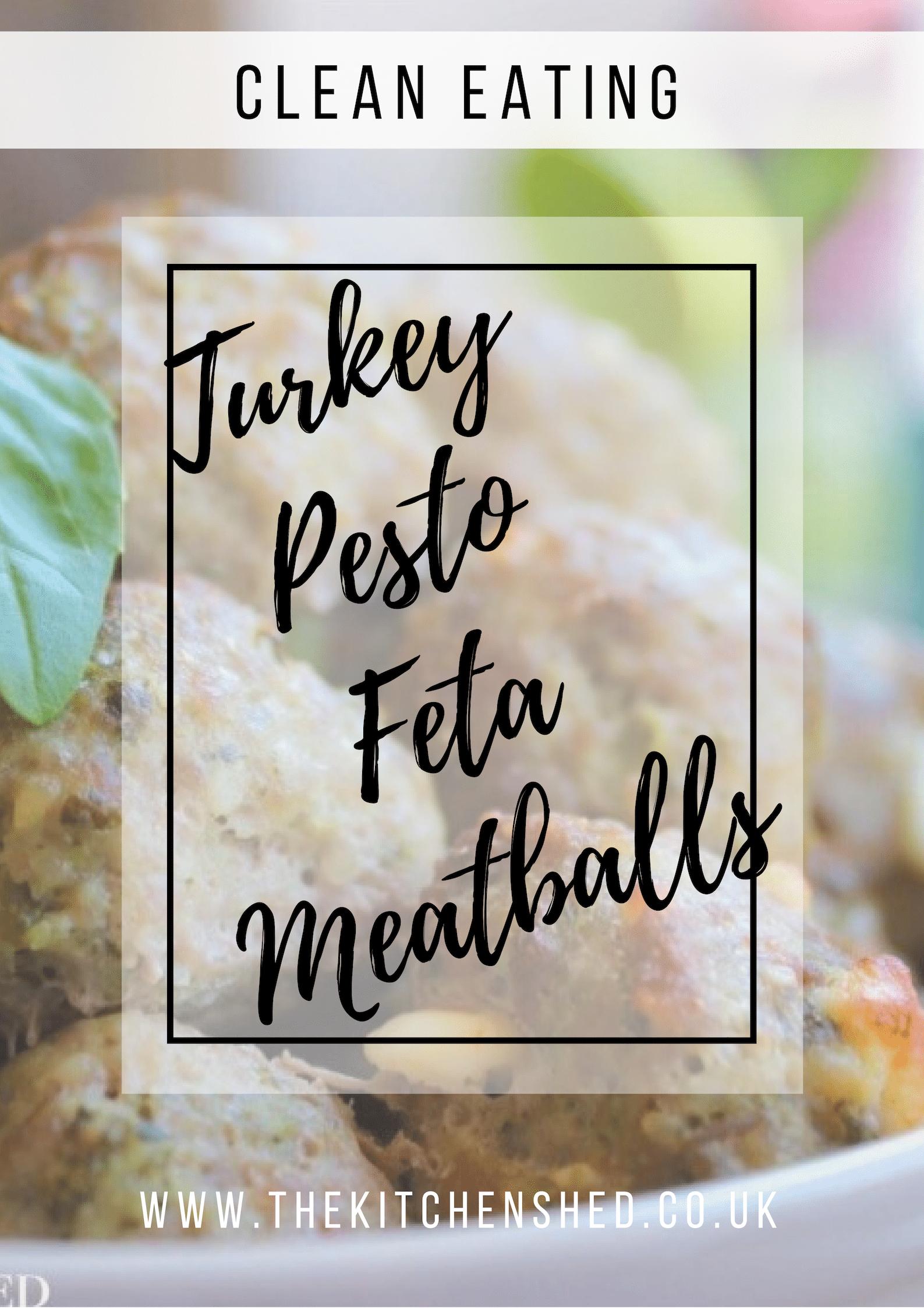 Clean Eating Turkey Pesto Feta Meatballs | Recipe | Turkey ...