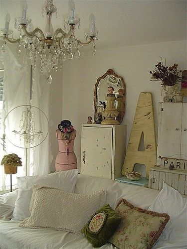 French Shabby Chic Cottage Decor.