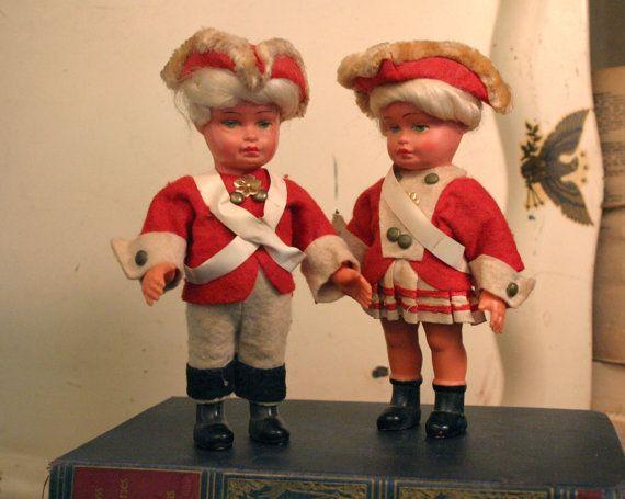 Vintage American Revolution Patriotic Dolls by AmericanVintageFare