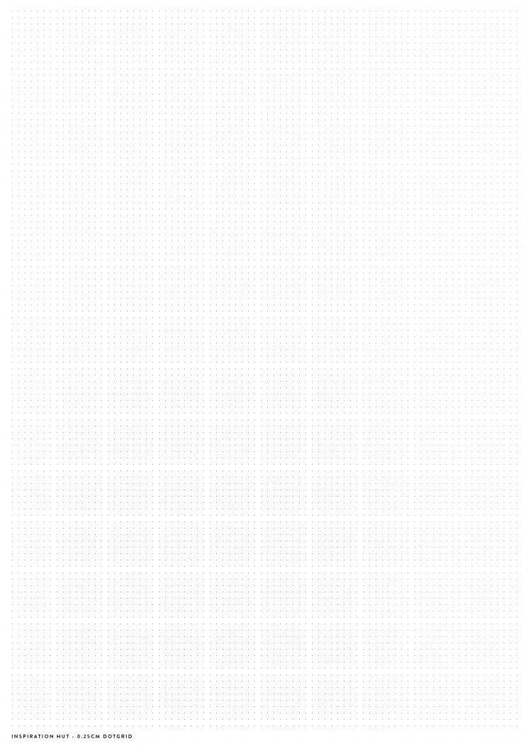 Printable Dotgrid Paper Template - Inspiration Hut - Design - printable dot grid paper