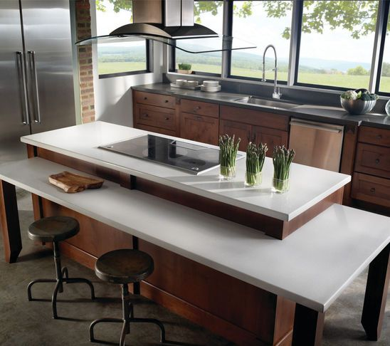 Kitchen Island 2 Levels kitchen countertops - love the two level island | future home
