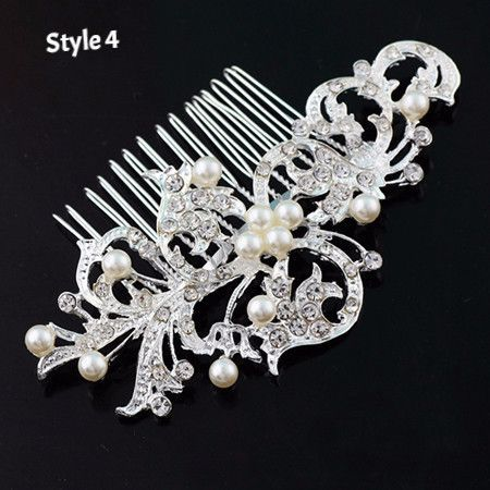 New Fashion Pearl Crystal Bridal Rhinestone Hair Clip Claw Comb Pin For Women Barrette Wedding Headdress Girls Hair Accessories