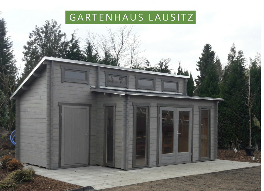 Gartenhaus Lausitz40 ISO mit Anbau Gartenhaus farbe