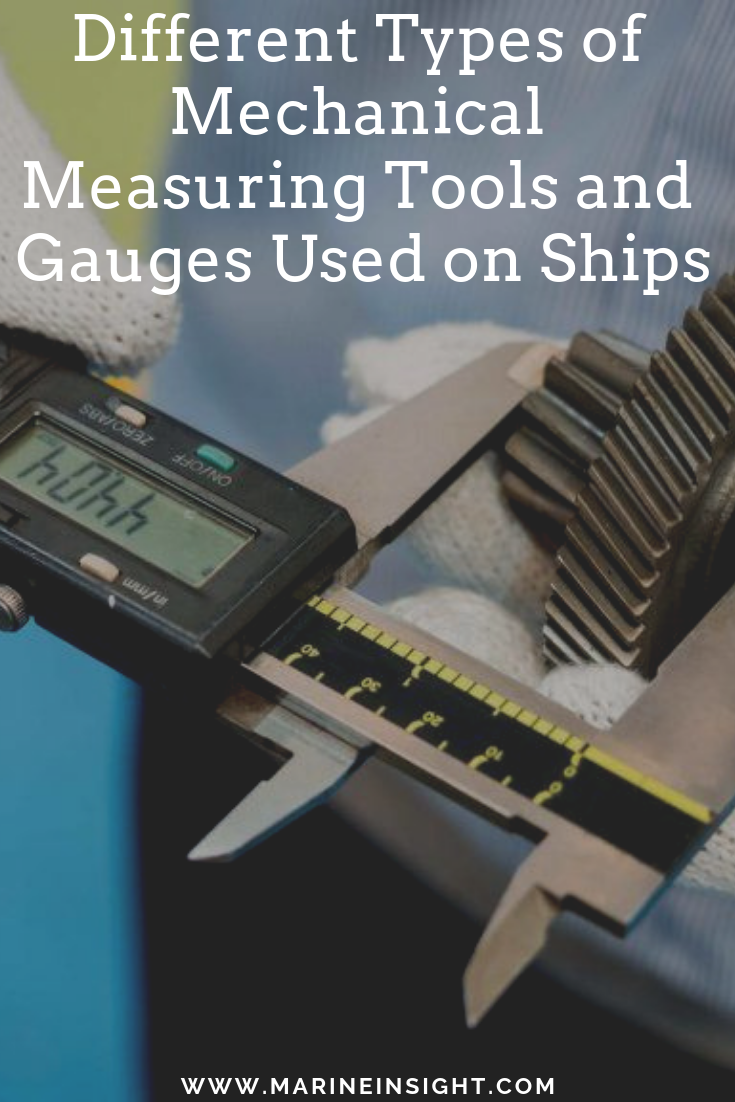 Different Types Of Mechanical Measuring Tools And Gauges Used On Ships Measuring Tools Gauges Engineering Tools