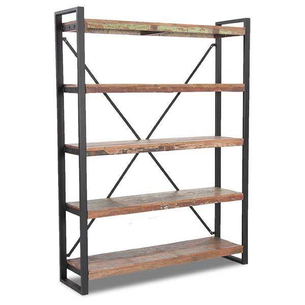 Vintage Industrial Bookcase Open Bookshelves Cool Bookshelves