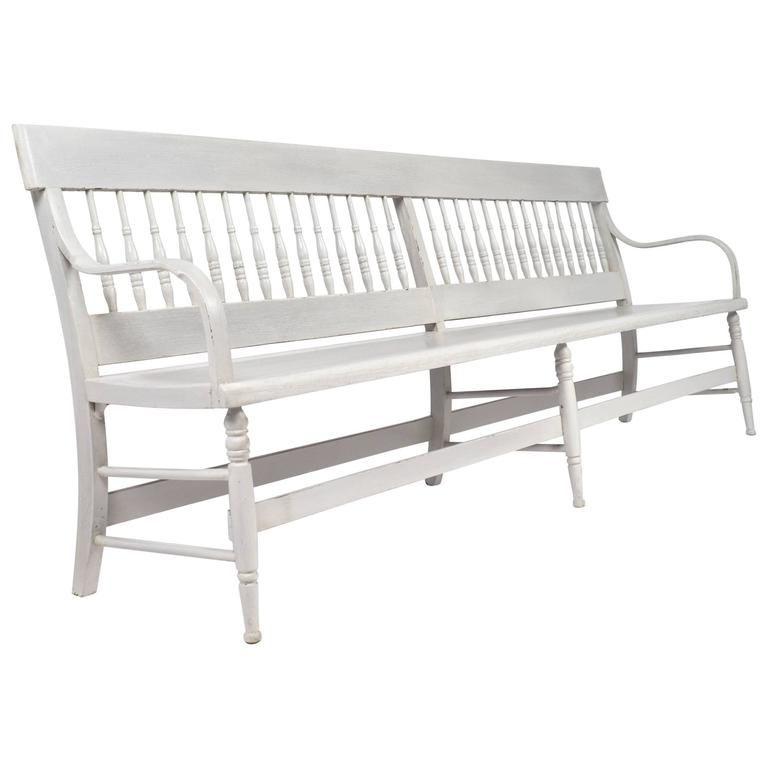 Tremendous American Federal Antique Long Wooden Bench Gordons Board Lamtechconsult Wood Chair Design Ideas Lamtechconsultcom