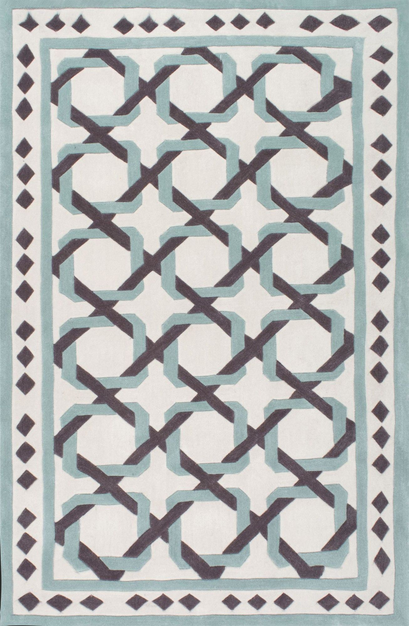 Briggs Tangled Hand-Tufted White Area Rug