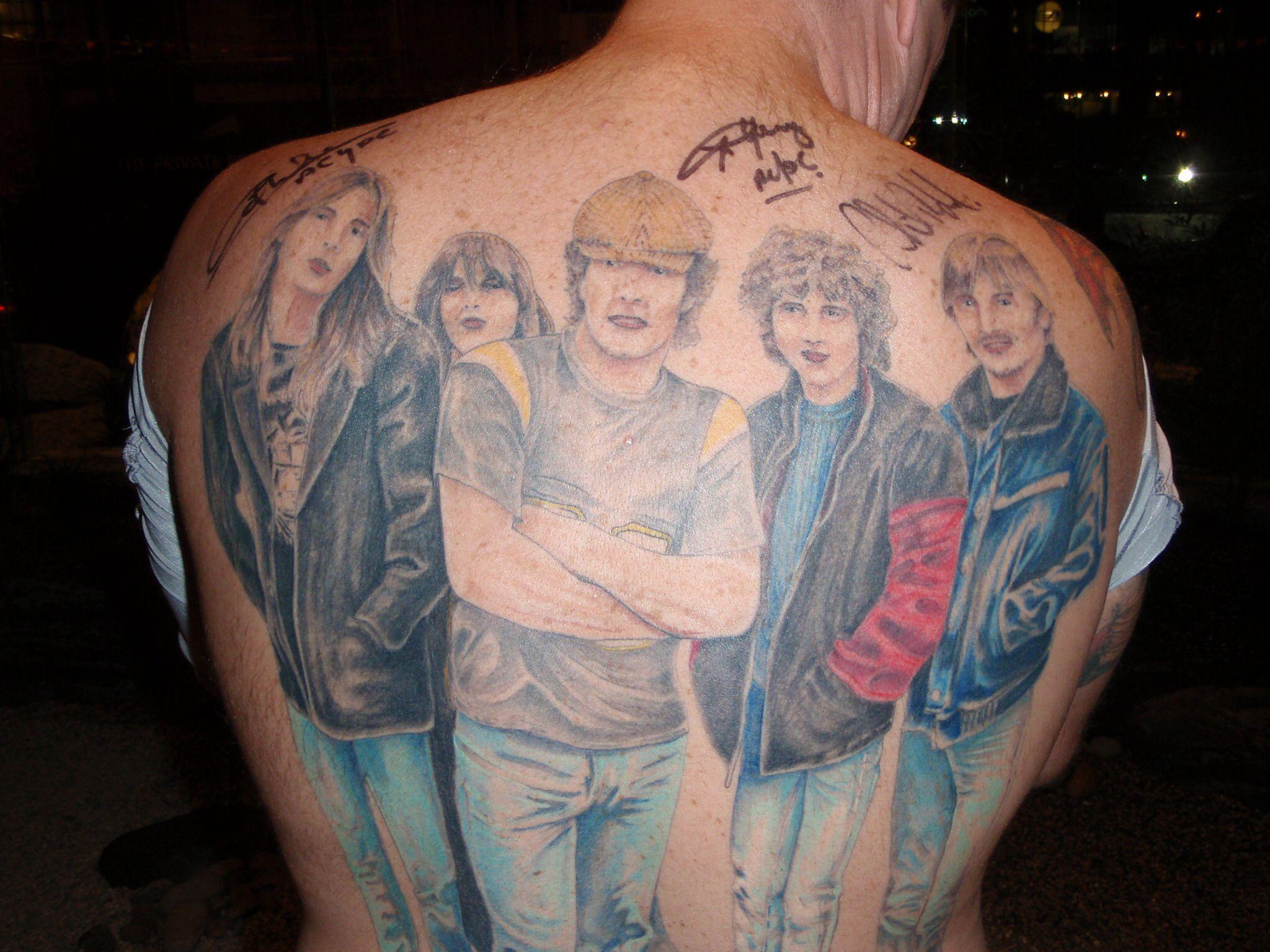 Temporary Tatoos Ac Dc Acdc Tatuaggi Temporanei Tattoos For