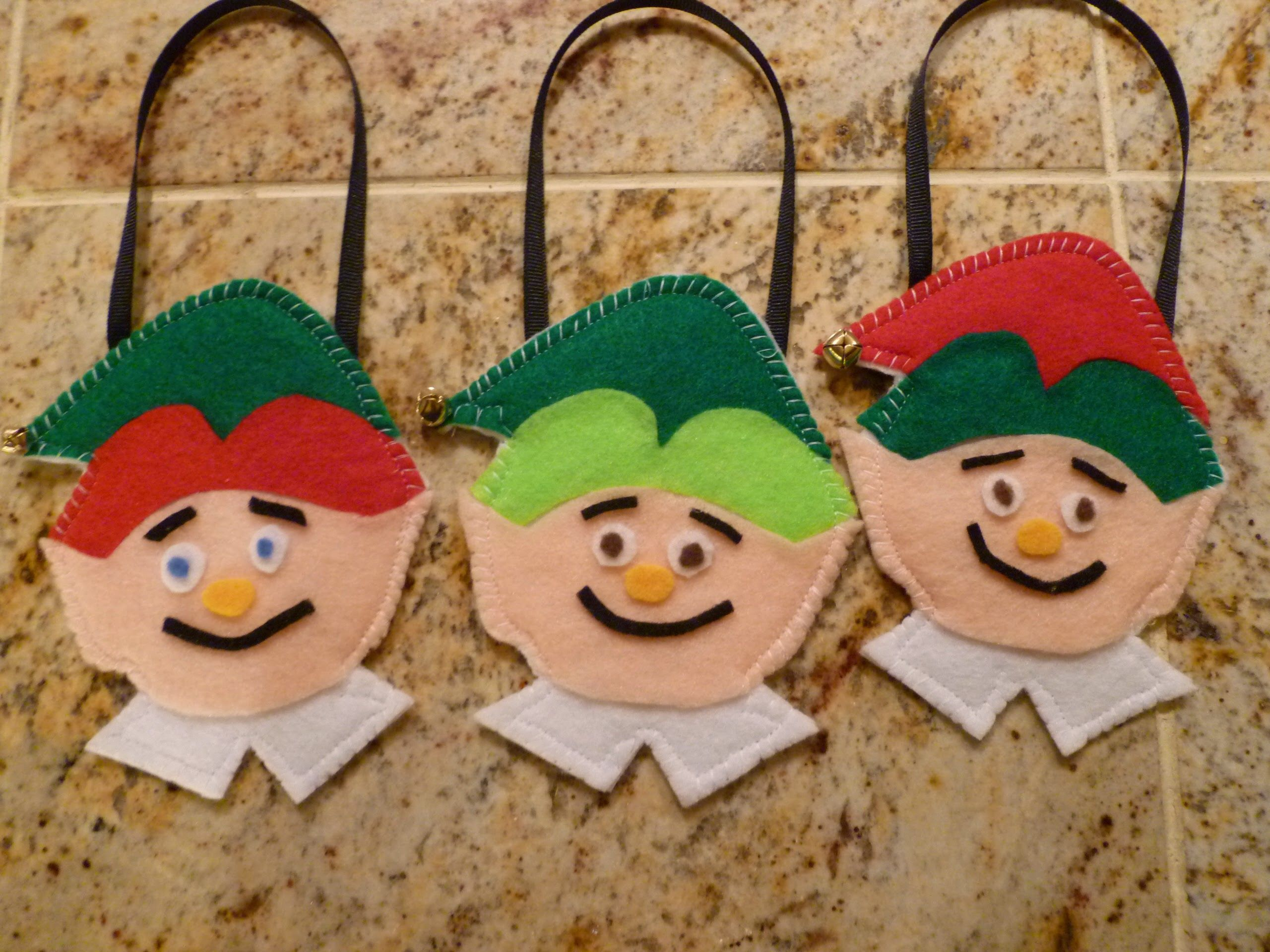 """My grandsons were wearing """"elf"""" pajamas, so I thought I'd make personalized ornaments fo ..."""