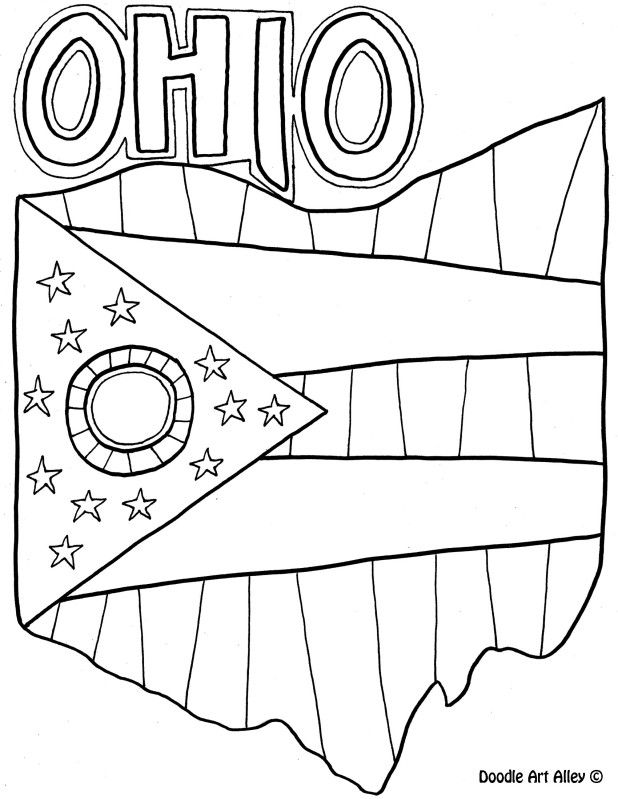 Ohio Coloring Page By Doodle Art Alley Coloring Pages Ohio History