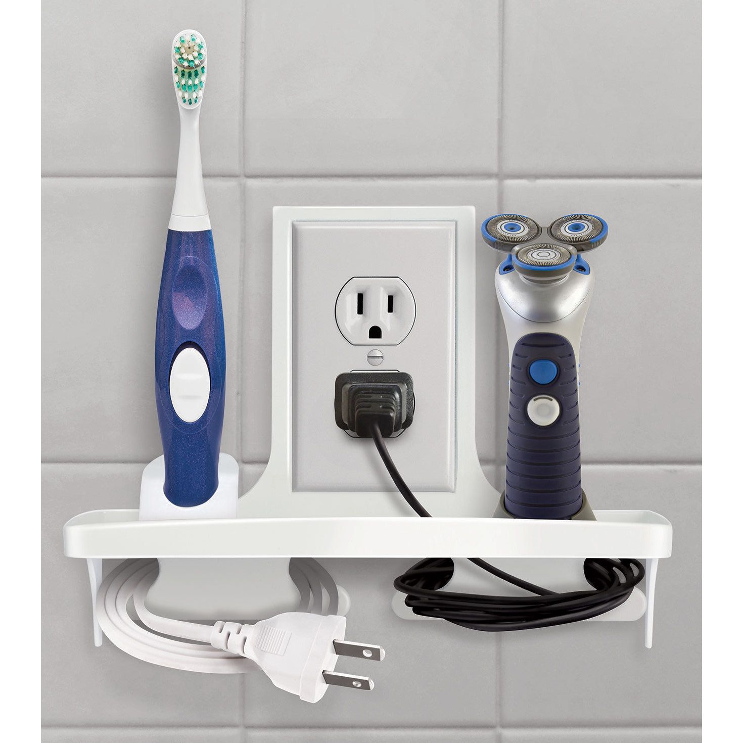 Bathroom Wall Organizers wall outlet organizerideaworksideaworks | wall outlet