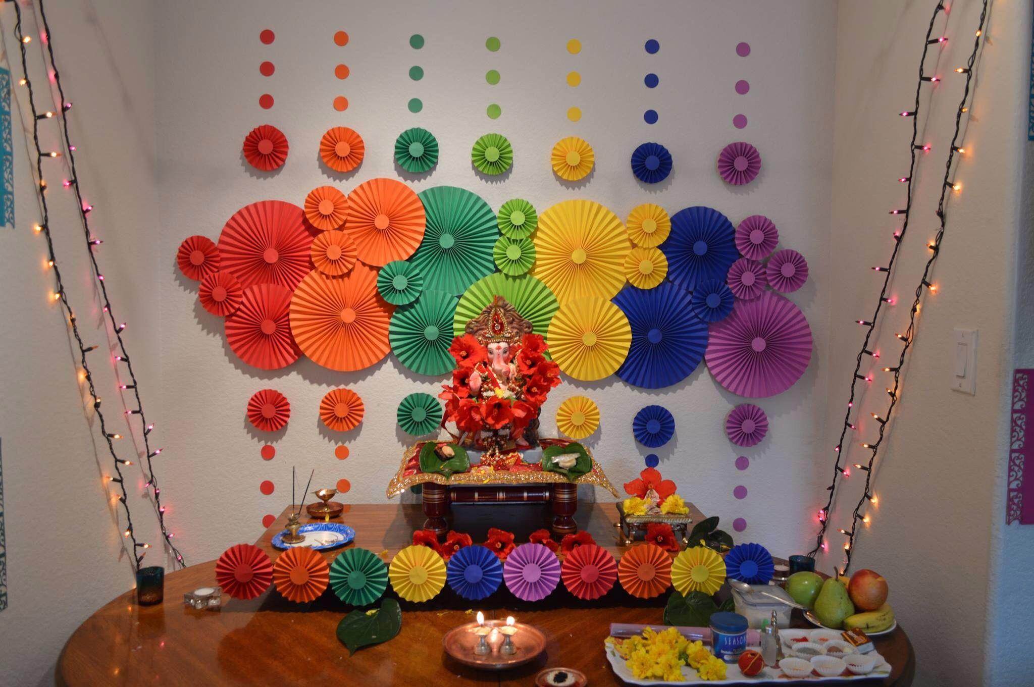 Ganapati decor | My DIY board | Pinterest | Decoration, Diwali and ... for Flower Decoration Ideas For Ganpati  150ifm