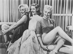 "1953 / Marilyn, Lauren Bacall, and Betty Grable for the film ""How to Marry a Millionaire""."