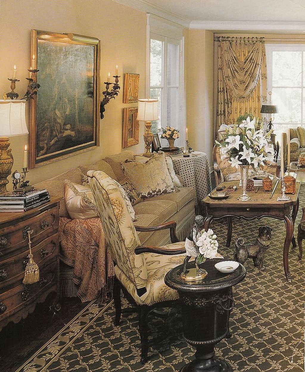 amazing french country living room decorating ideas | 30+ Cozy French Decor Living Room Ideas | Living room ...