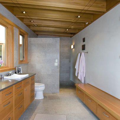 Walking shower. Wall height for shower | Dream house | Pinterest ...