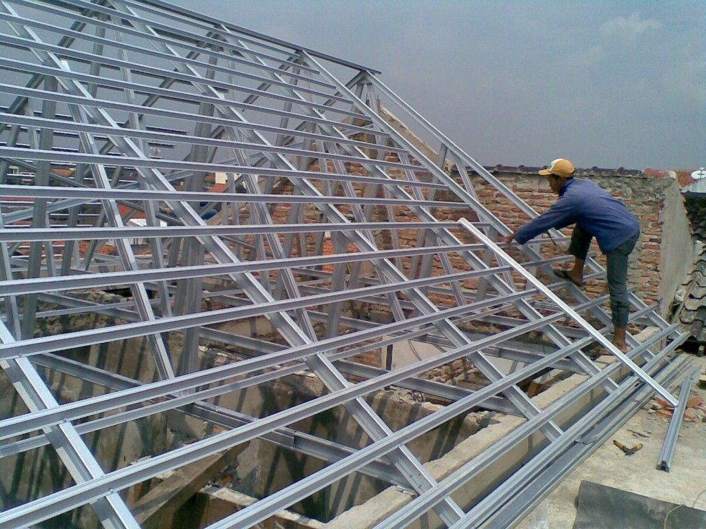 cara menghitung pemakaian baja ringan untuk atap rumah harga dan hitung rangka kanopi