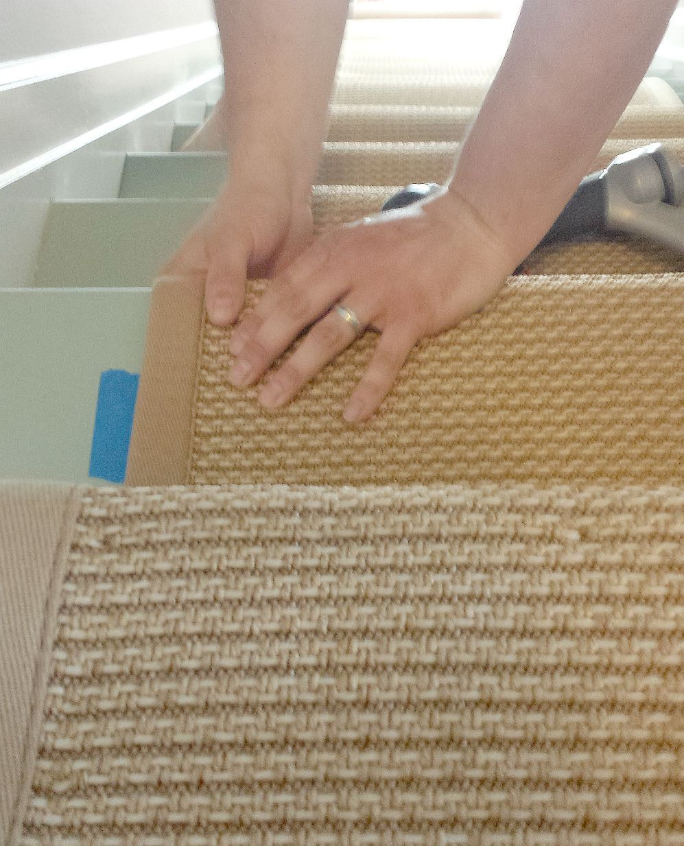 How to Install a Kid Friendly Stair Runner Painted