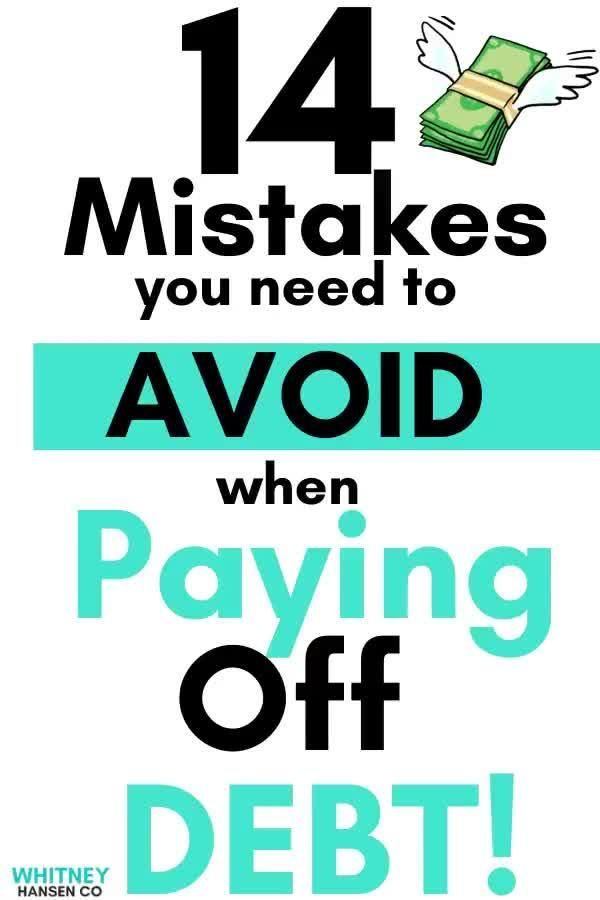 AVOID these Debt Mistakes!