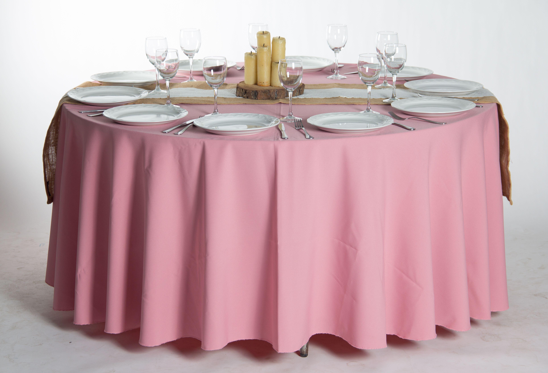 Mantel rosa rosa