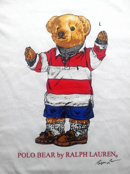 5a3c8ad725 RALPH LAUREN POLO BEAR ROUND NECK T SHIRT - Condition: Original - factory  over run stock for export. - A relaxed, classic fit T-shirt in soft cotton  jersey.