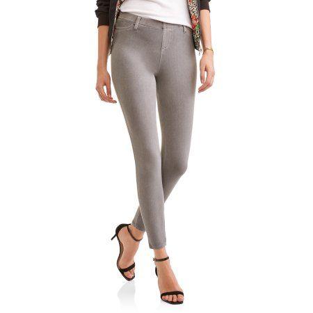 b42192525edad Faded Glory Women's Full Length Knit Color Jegging, Size: Medium, Gray