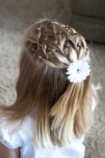 Une coiffure soirée pour petite fille Photo coiffure